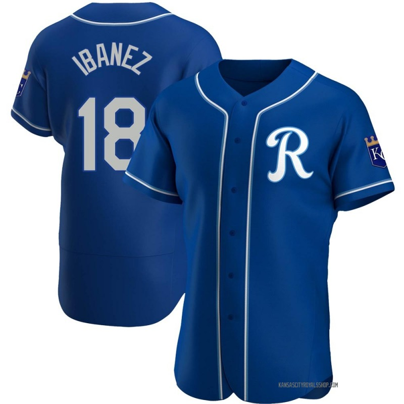 Men's Raul Ibanez Kansas City Royals Authentic Royal Alternate Jersey