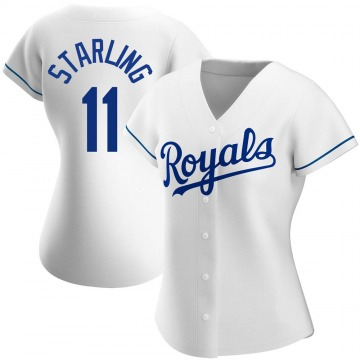 Women's Bubba Starling Kansas City Royals Authentic White Home Jersey