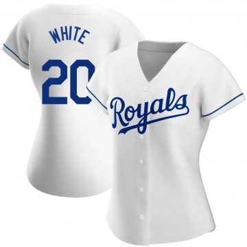 Women's Frank White Kansas City Royals Authentic White Home Jersey