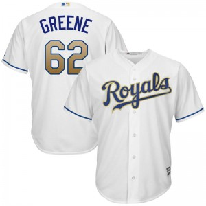 Youth Majestic Conner Greene Kansas City Royals Replica White Cool Base 2017 Home Jersey