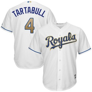 Youth Majestic Danny Tartabull Kansas City Royals Authentic White Cool Base 2017 Home Jersey