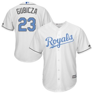 Youth Majestic Mark Gubicza Kansas City Royals Replica White Cool Base Father's Day Jersey