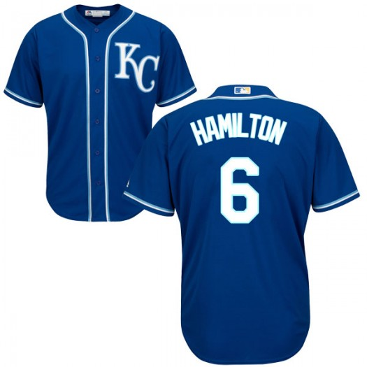 Youth Majestic Billy Hamilton Kansas City Royals Authentic Blue Cool Base Alternate Jersey