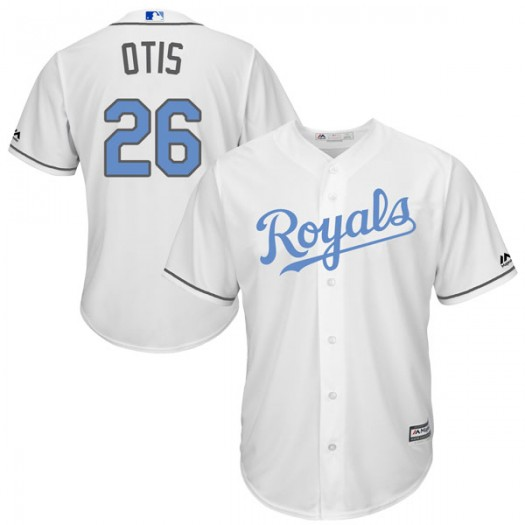 Youth Majestic Amos Otis Kansas City Royals Authentic White Cool Base Father's Day Jersey