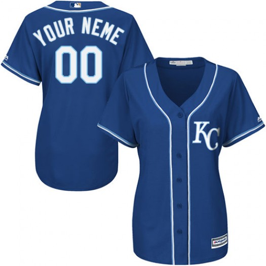 Women's Majestic Custom Kansas City Royals Player Authentic Blue ized Alternate 2 Cool Base Jersey